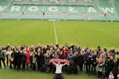Mikołaj Dla Managera  2016 - tradycyjne zdjęcie na Stadionie Wrocław - wszyscy zadowoleni