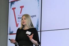 Mikołaj Dla Managera  2016 - Katarzyna podczas swojego wystąpienia