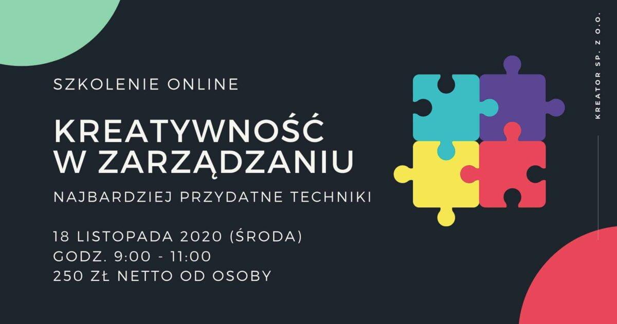 kreatywność w zarządzaniu szkolenie online